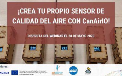 Webinar: Crea tu propio sensor de calidad del aire con CanAirIO