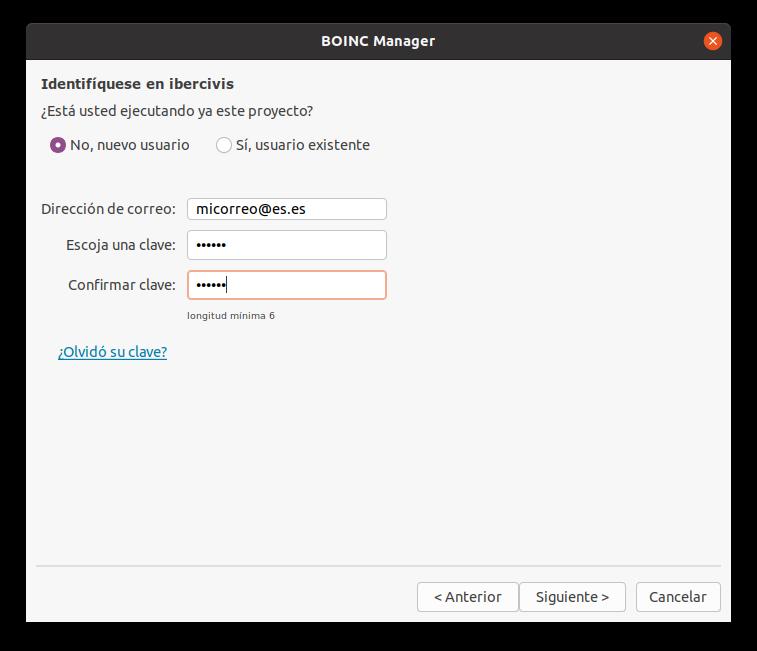 Add BOINC password