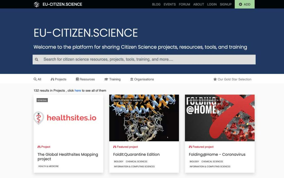 EU-Citizen.Science: Lanzamiento de nuevas funcionalidades en  la plataforma europea de ciencia ciudadana