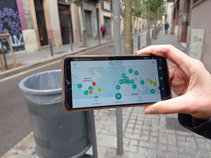 La app de OdourCollect contribuye a atajar la contaminación por olores.