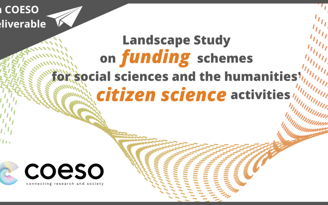 Landscape study on citizen science funding schemes for Social Sciences and the Humanities